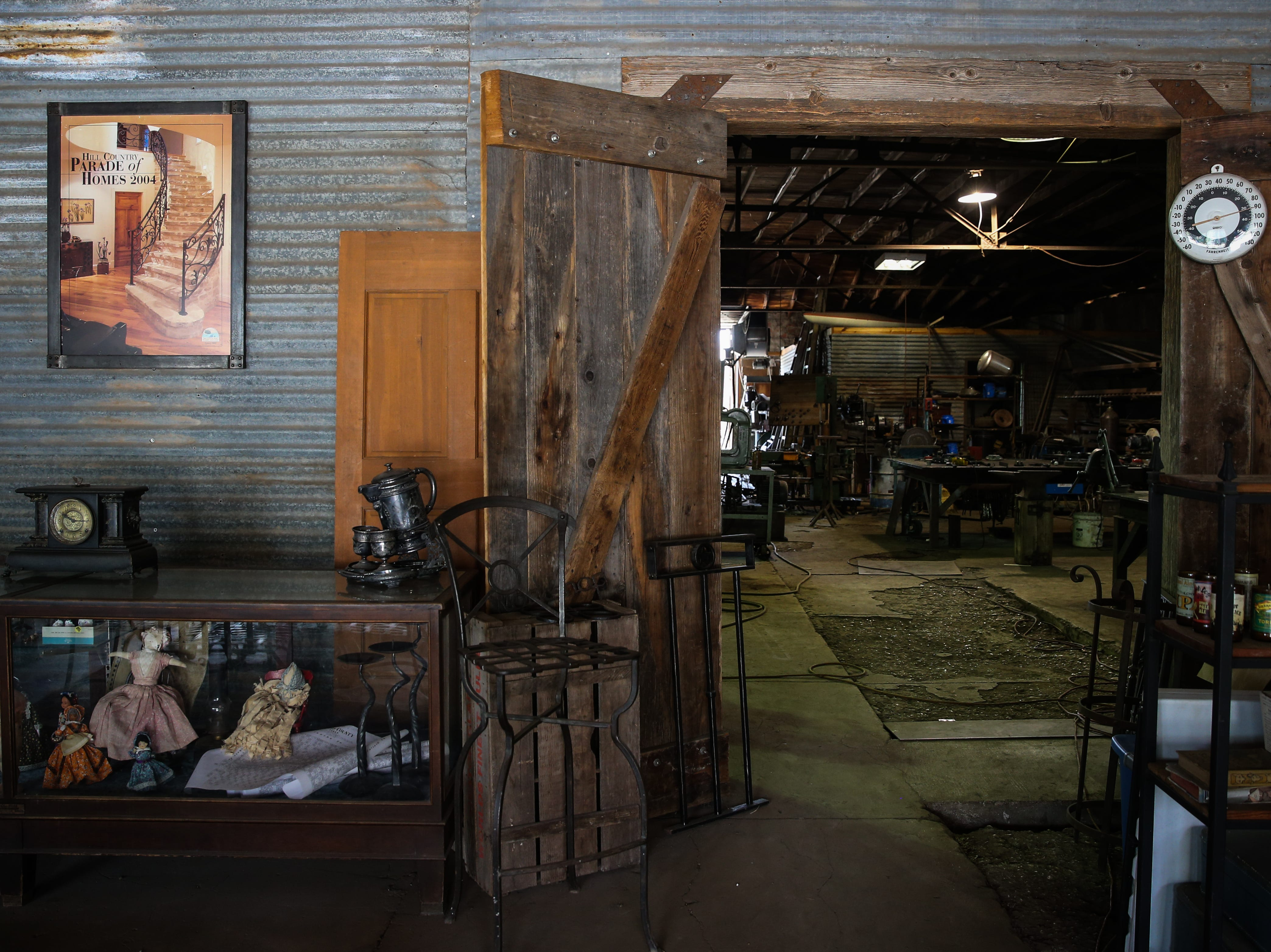 Randy Kiser's workshop is located behind the store at 3Nail Ironwork in Paint Rock.