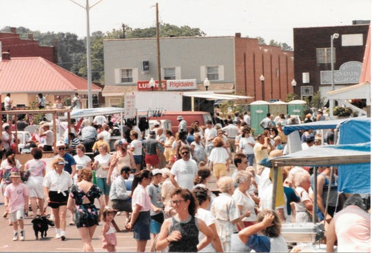 A scene from a Parksley festival in 1989