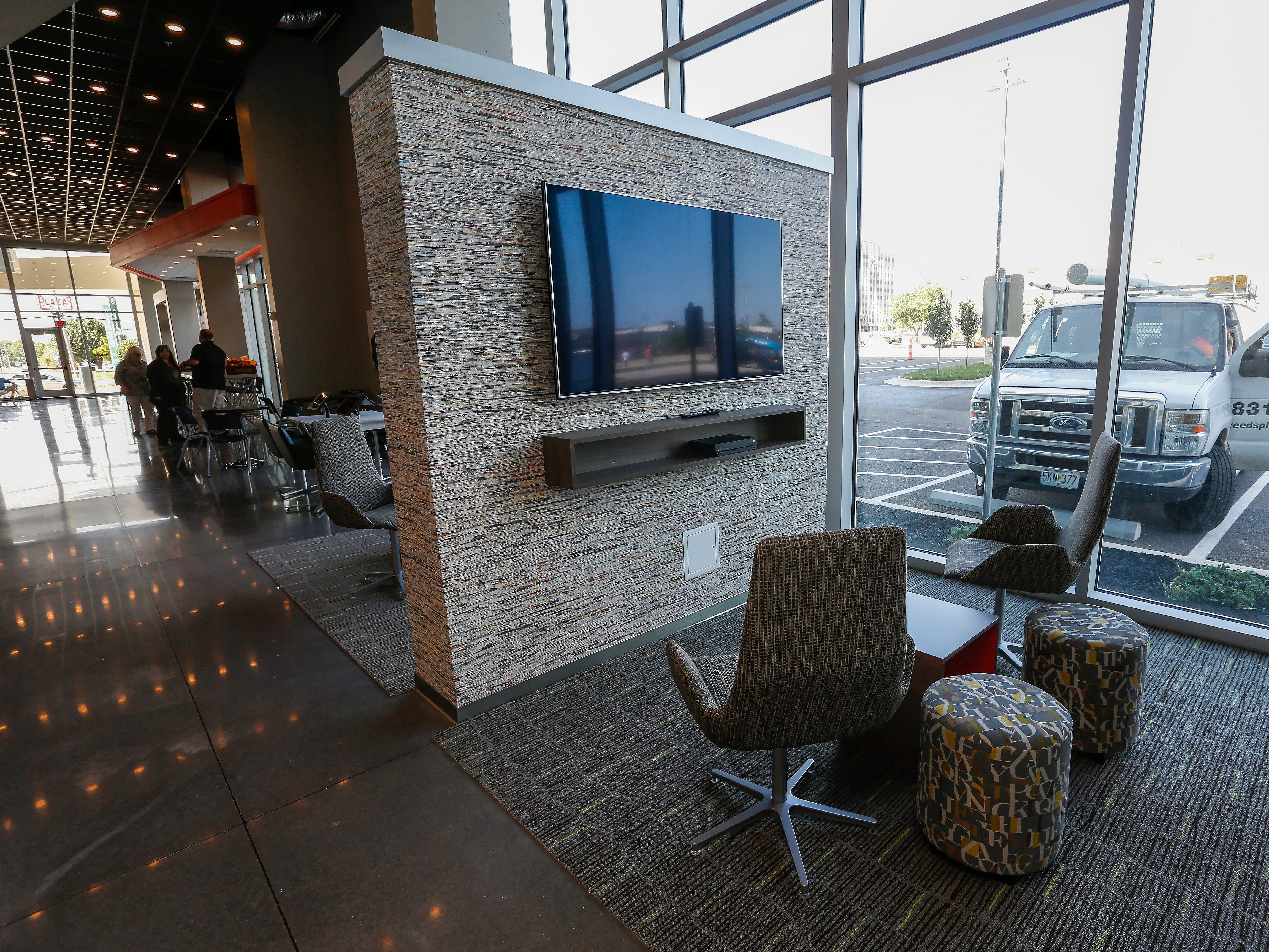 A look at one of the gaming pods at the new Vib Hotel, located at 1845 E Sunshine St. The hotel will hold its grand opening on Friday, Aug. 10, 2018.