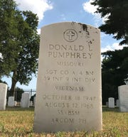 Donald Lee Pumphrey is buried in Springfield National Cemetery, only a few headstones from Glenstone Avenue, where he once cruised with his buddies. He died in Vietnam 50 years ago today.