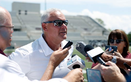 Missouri State Bears head football coach Dave Steckel takes questions on Bears media day on Thursday.