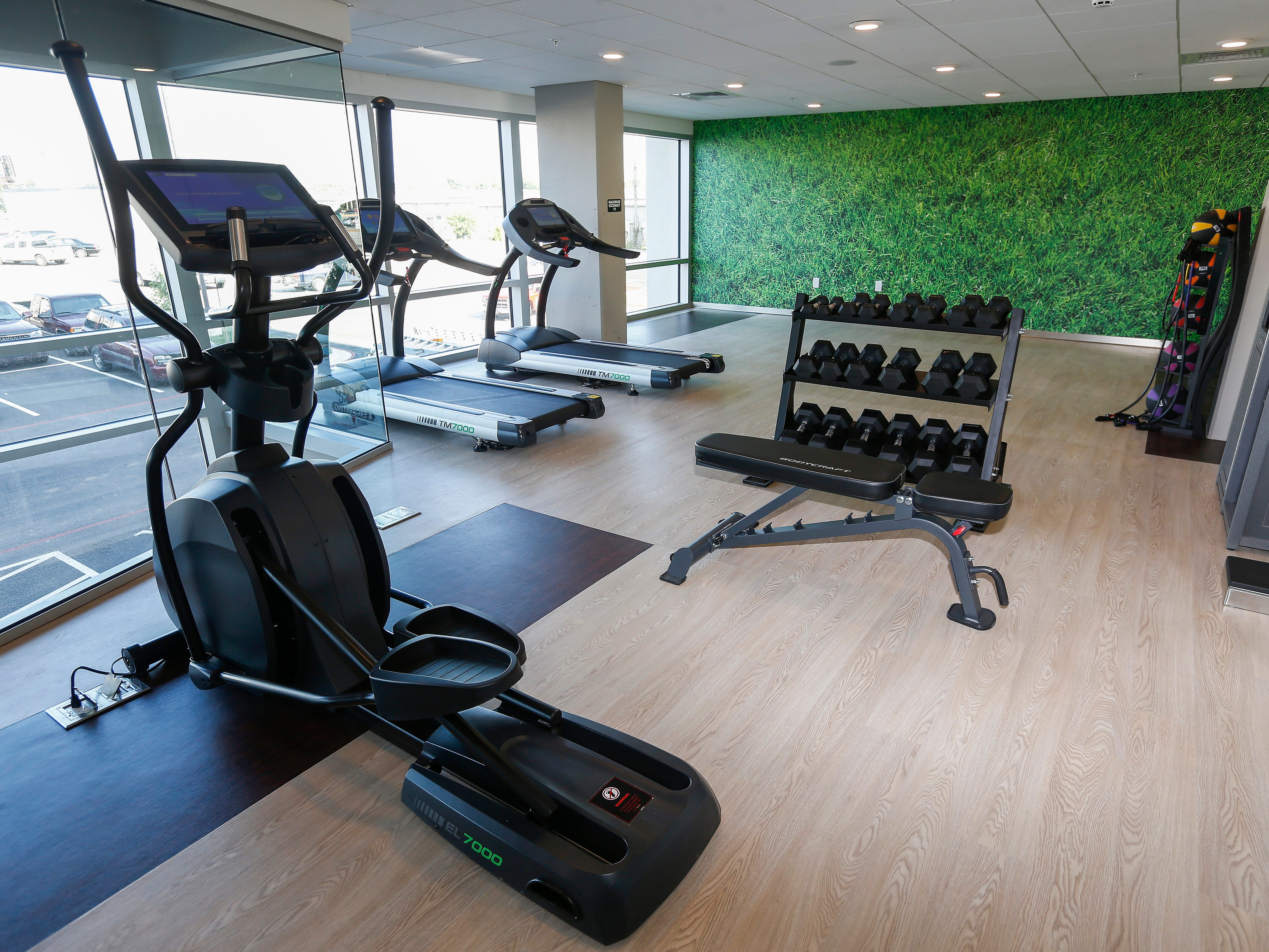 A look at the fitness center at the new Vib Hotel, located at 1845 E Sunshine St. The hotel will hold its grand opening on Friday, Aug. 10, 2018.