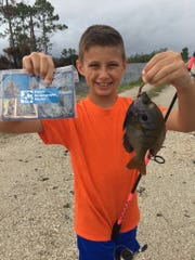 After catching and releasing 164 fish in three months, Sebastian Burlage was named the top angler at the 2018 Florida Oceanographic Society Youth Fishing Tournament.