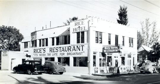 Rice's Restaurant in the late 1940s.