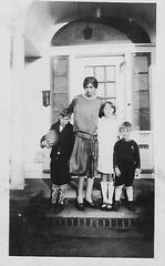 Rita (Harter) McGinnis with her mother and two brothers in the 1920s in Shaker Heights, Ohio.