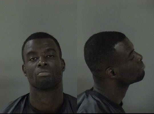 Travis Gordon at the Indian River County Jail when he was arrested in December 2015.