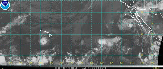 Tropical conditions in the Pacific Aug. 9, 2018.