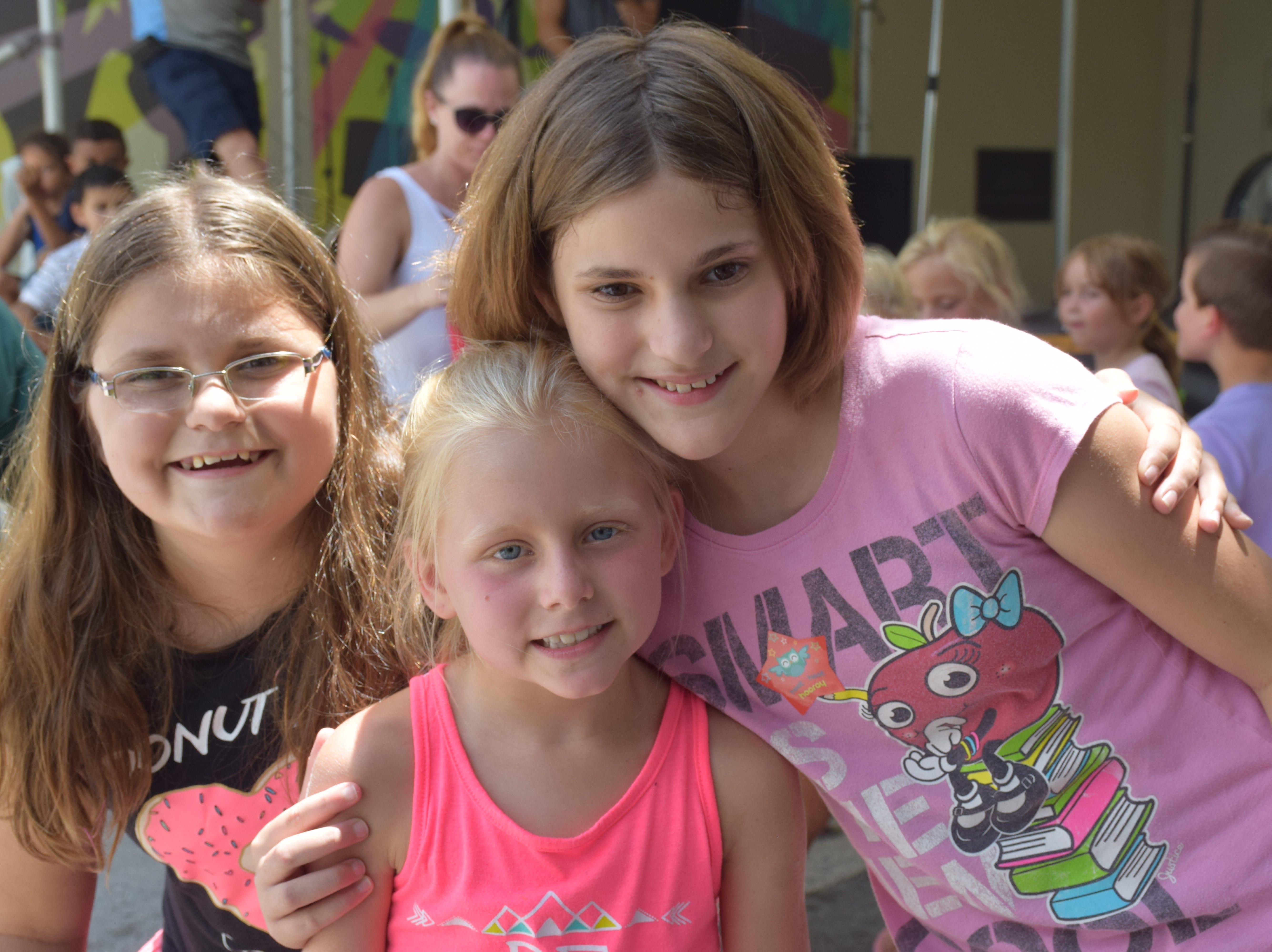 Alina, 9; Ily, 8 and Jaiden, 11
