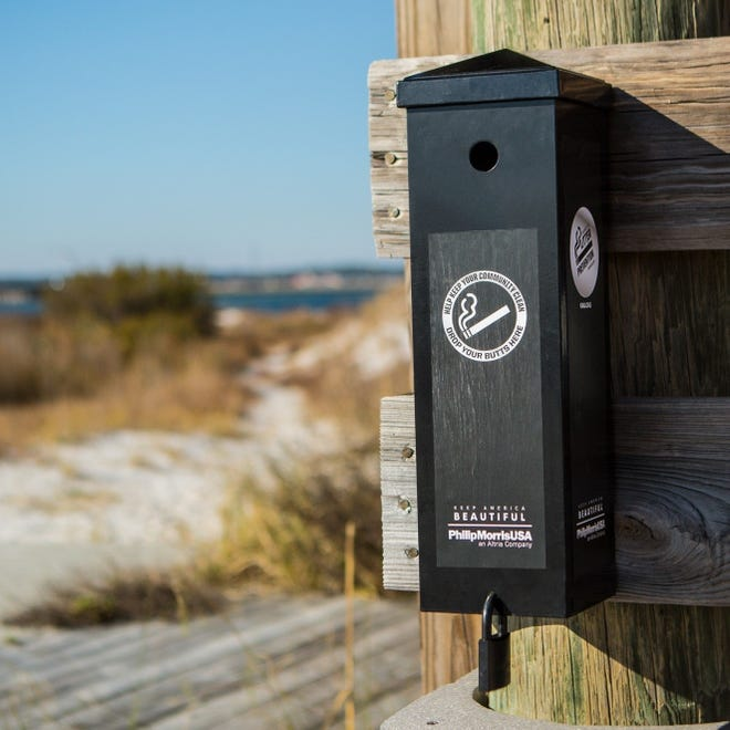 Indian River County may consider cigarette-butt containers at its beaches, similar to the ones Keep Port St. Lucie Beautiful -- in partnership with Keep America Beautiful and Philip Morris USA -- gave away to local organizations.