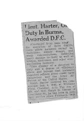 Rita McGinnis's brother, Richard Harter, went off to war in the Army Air Corps and was awarded the DFC for flying the Burma Theatre.