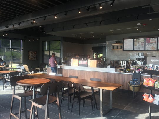 The interior of the new Starbucks in Elmsford. Photographed Aug. 9, 2018.