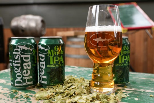 """Dogfish Head's 60 Minute IPA was a runner-up in The News Journal's """"Best Beers of Delaware"""" poll."""