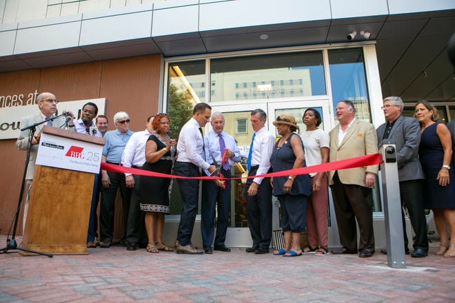 The Residences at Mid-town Park hold their Grand Opening Celebration & Ribbon Cutting Ceremony Thursday in downtown Wilmington.