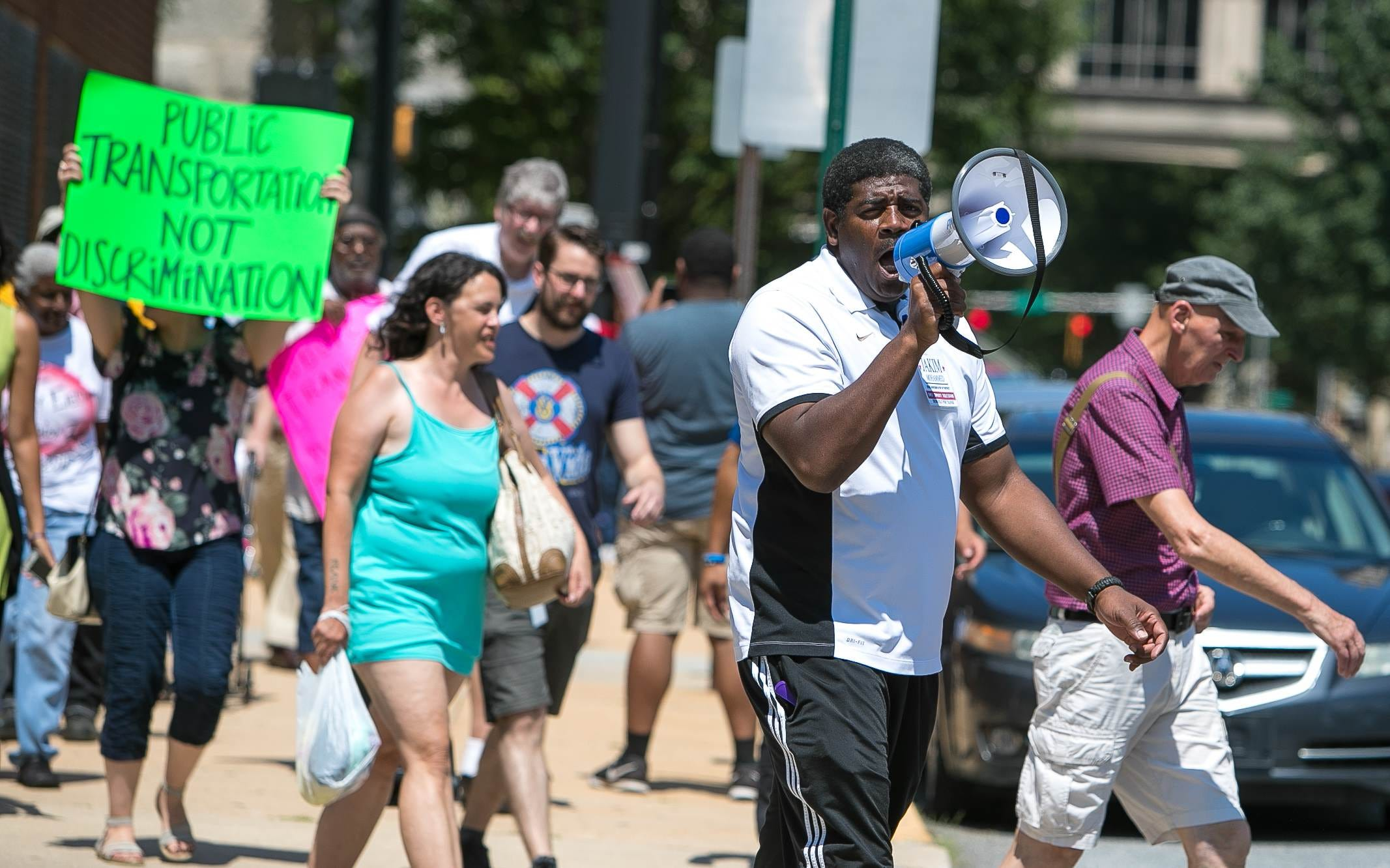 Rodney Square bus hub advocates march to governor's office, demand action