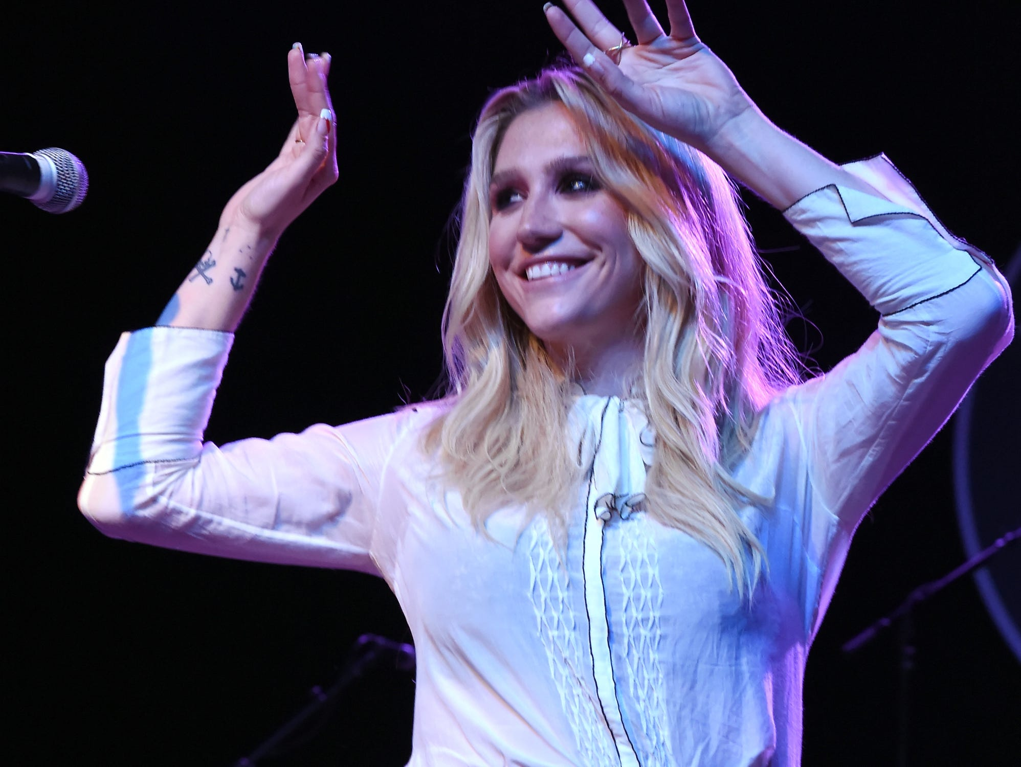 Kesha performs on stage at Brian Fest: A Night To Celebrate The Music Of Brian Wilson at The Fonda Theatre on March 30, 2015 in Los Angeles, California.