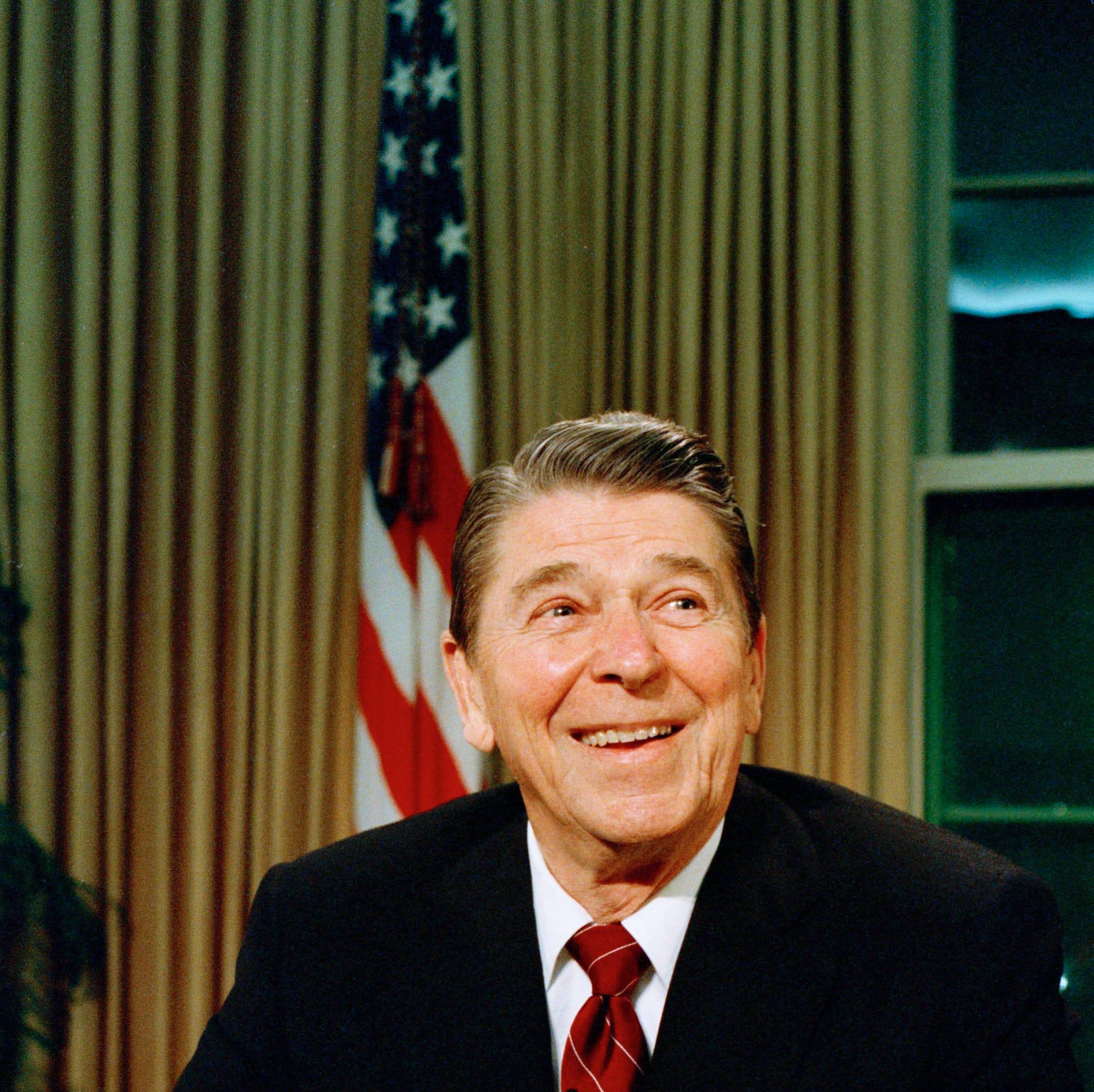 Ronald Reagan on Dec. 11, 1987.