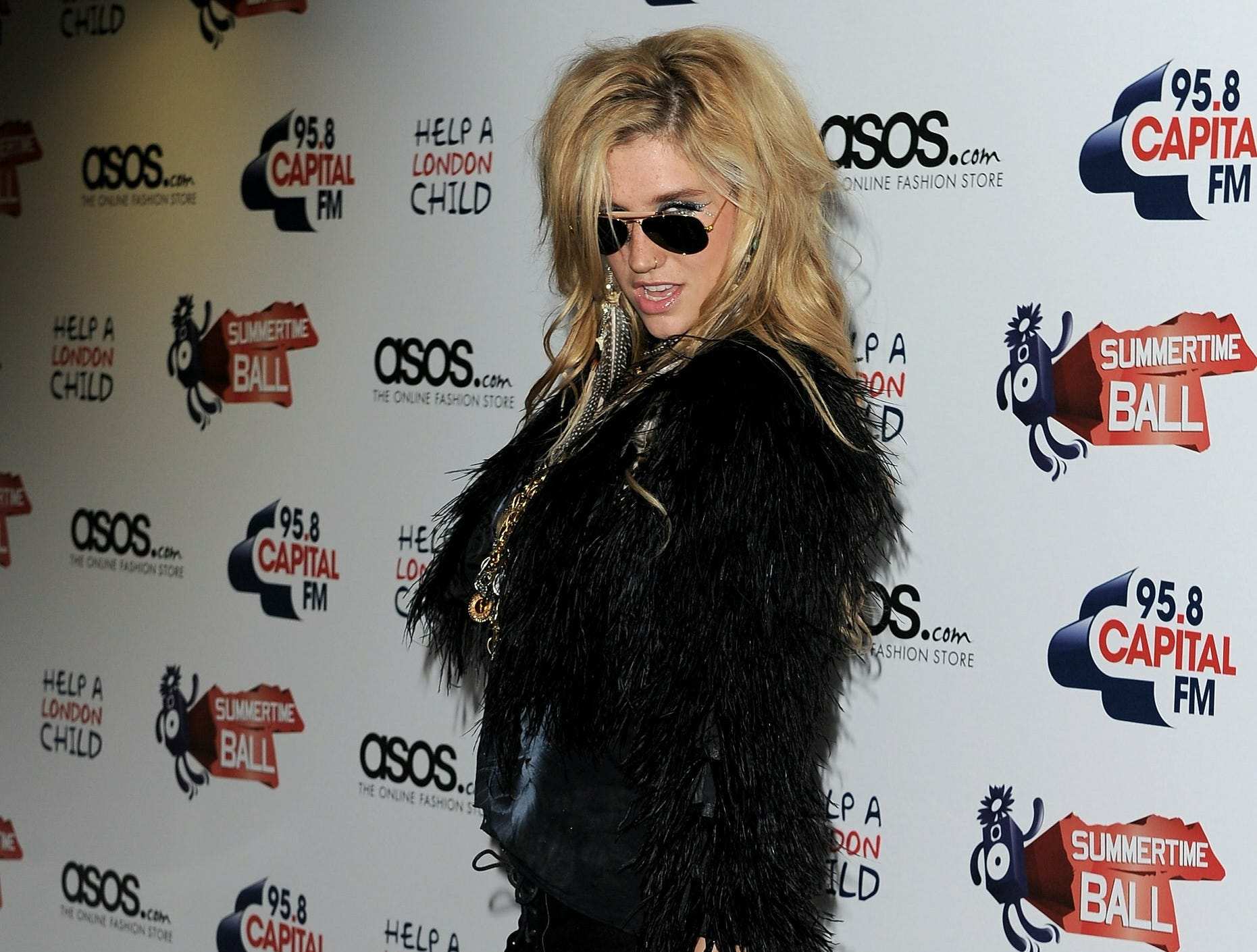 Kesha arrives at the Capital Radio Summertime Ball at Wembley Stadium on June 6, 2010 in London, England.