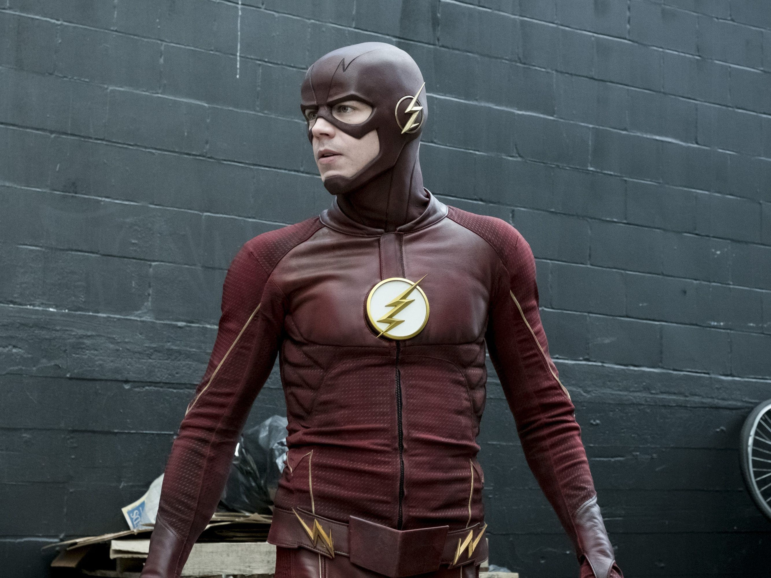"Grant Gustin in the CW's ""The Flash."""