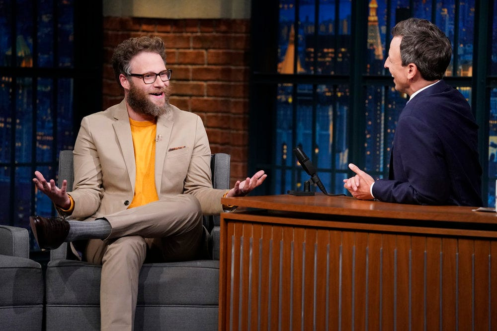 Seth Rogen's epic story about meeting Tom Cruise involves an education on Internet porn