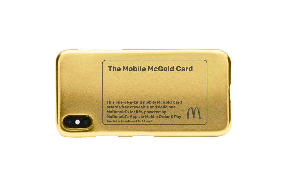 Game time gold mcdonalds prizes for students
