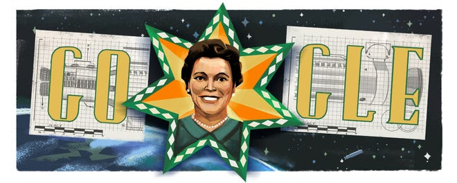 Mary G. Ross featured on Thursday's Google Doodle.