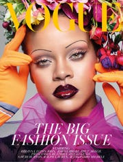 Rihanna graces the cover of British Vogue's September 2018 issue.
