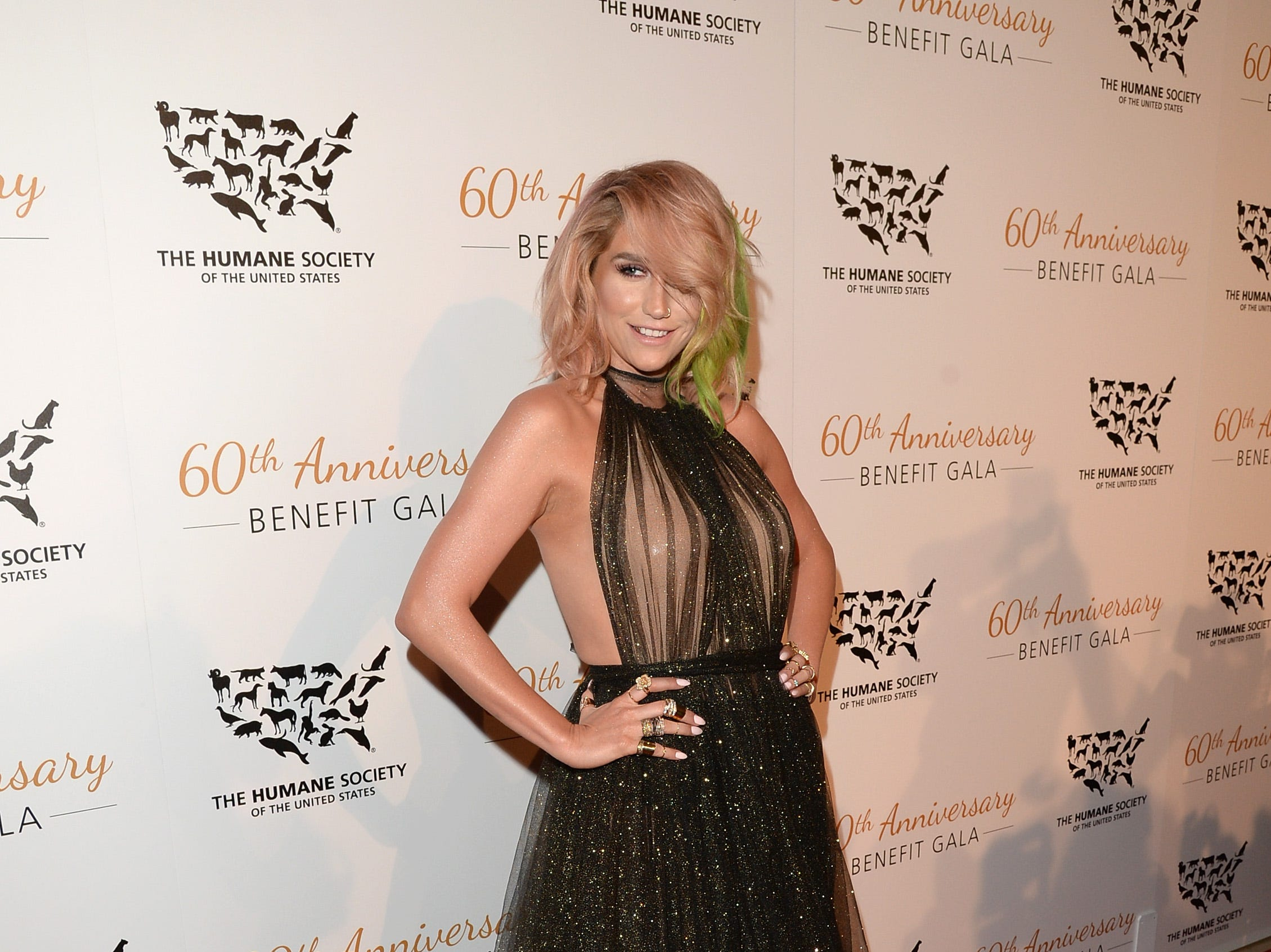 Kesha attends the Humane Society of The United States 60th Anniversary Gala at The Beverly Hilton Hotel on March 29, 2014 in Beverly Hills, California.