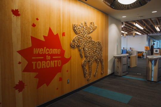 Amazon's offices in Toronto, Canada.