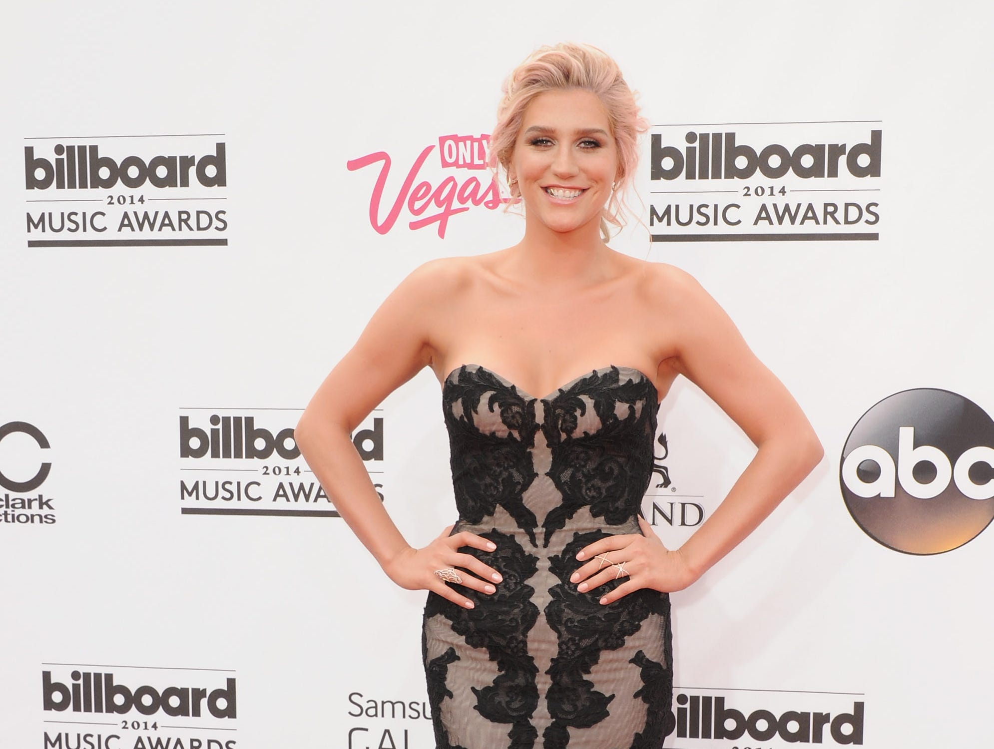 Kesha arrives at the 2014 Billboard Music Awards on May 18, 2014 in Las Vegas, Nevada.