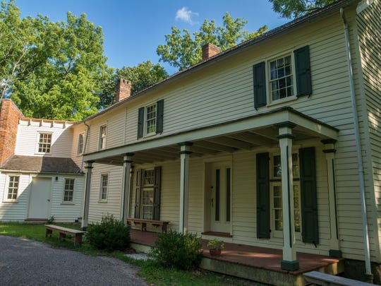 """Allaire Village's """"big house"""" that served as home to  James Allaire. It had indoor plumbing in the 1830s."""