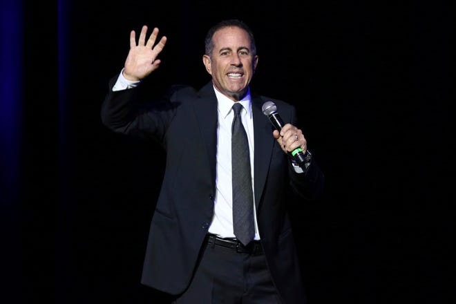 Jerry Seinfeld performs at Stand Up For Heroes, in New York City on Nov. 1, 2016, in New York. Seinfeld is scheduled to perform at The Forum in Binghamton on Nov. 8.