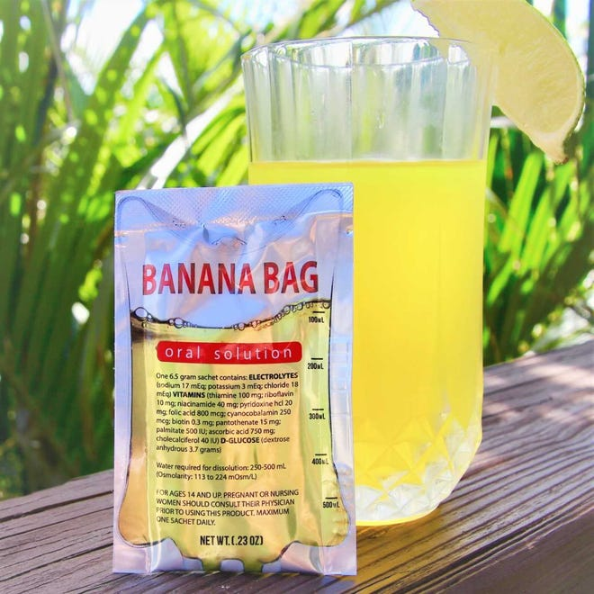 Banana Bag Oral Solution, a hydration remedy solution created by Melbourne pharmacist Brian Dery, is a hit with athletes and people with chronic illnesses.