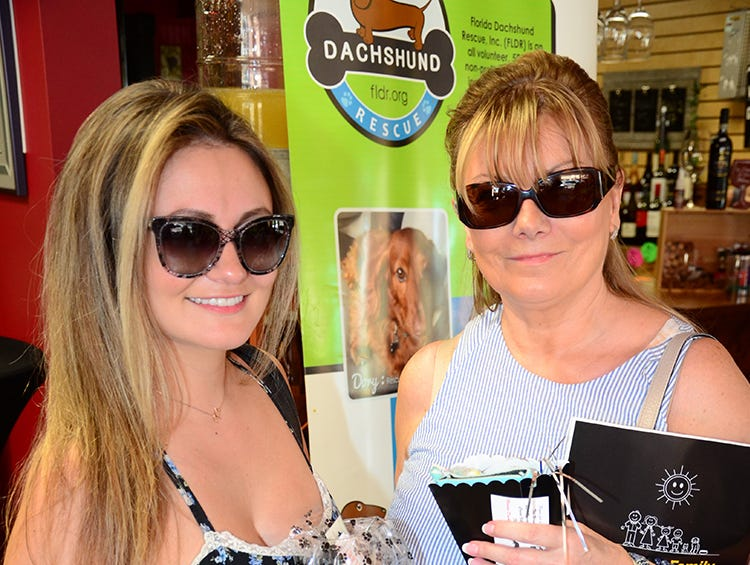 Also at the Paws for a Sip event held Saturday at The Wine Lady in Cocoa Village were Danielle and Deb D'Angelo. The benefit was hosted by Tails at the Barkery with proceeds going to the Florida Dachshund Rescue.