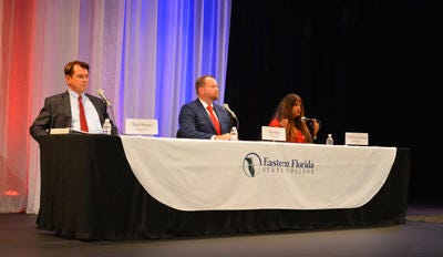 FLORIDA TODAY recently hosted a forum for House District 52 race at Eastern Florida State College Cocoa Campus. Picturered are candidates Thad Altman (Republican), Matt Nye (Republican) and Seeta Begui (Democrat.)