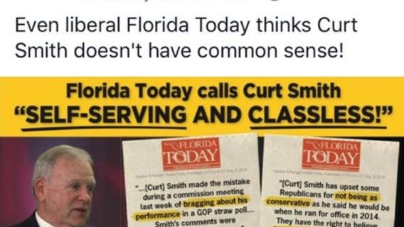 Why is Brevard state Rep. Randy Fine's political committee is going after Commissioner  Curt Smith?