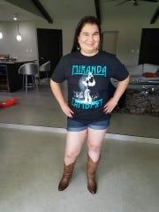 Stacey Hernandez, 30, wears a Miranda Lambert shirt.