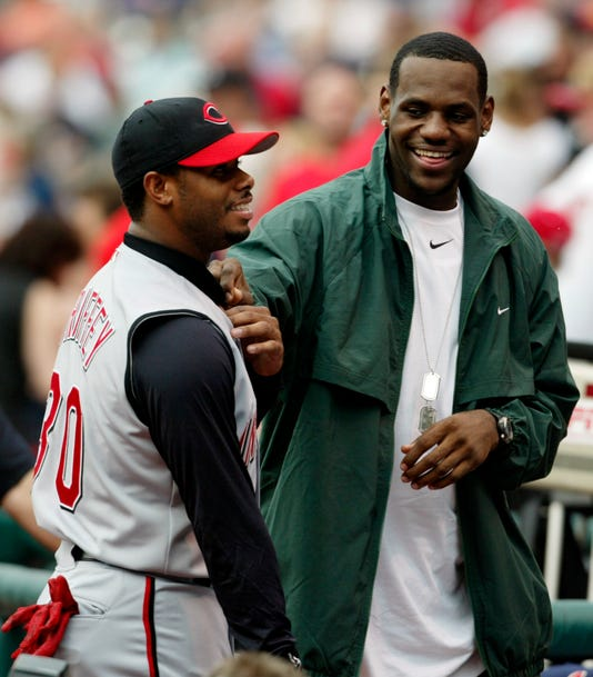 8594835877 LeBron dubs himself 'Young Griffey' with photo of his bat flip