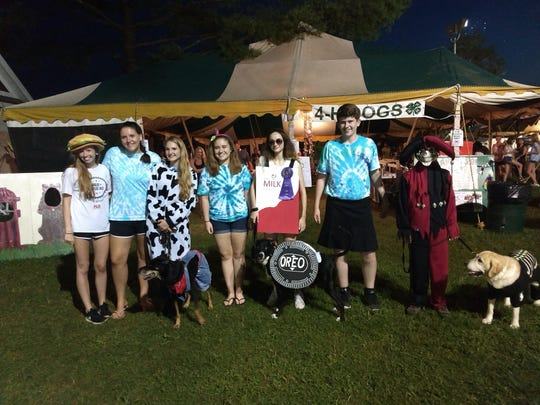 The costume content held by Wags 'n Whiskers at the Somerset 4-H Fair.