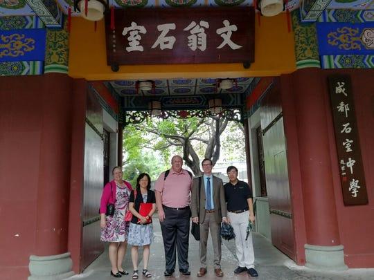 Left to right: Marci Bowman, Hua Liu, Russ Althouse, Bob Bowman, Henry Bowman.