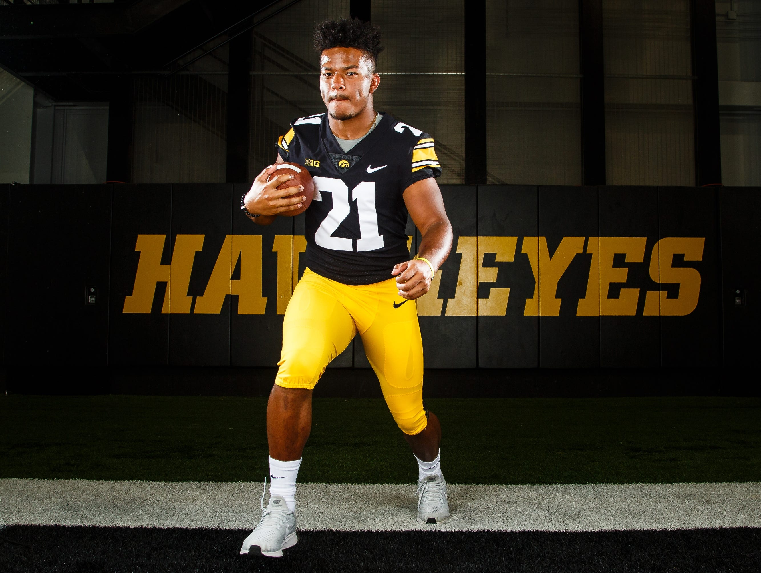 Iowa's Ivory Kelly-Martin poses for a photo during the Iowa Football media day on Friday, Aug. 10, 2018 in Iowa City.