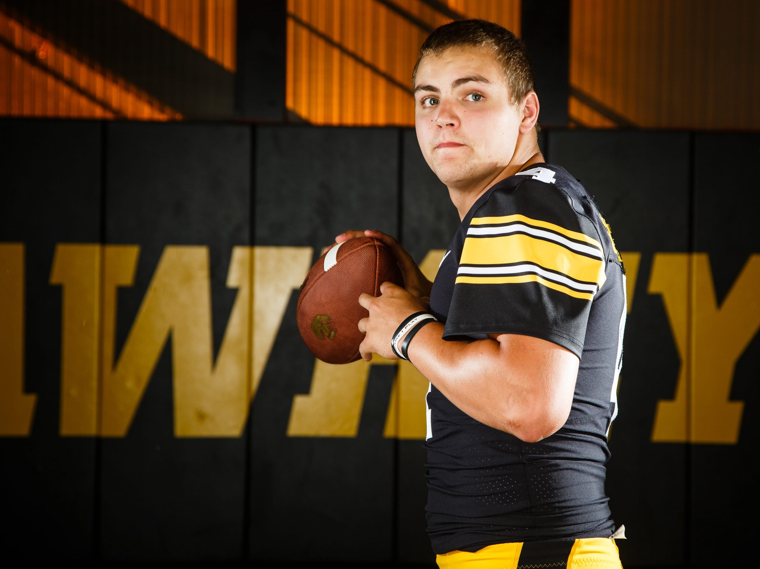 Iowa's Nate Stanely poses for a photo during the Iowa Football media day on Friday, Aug. 10, 2018 in Iowa City.