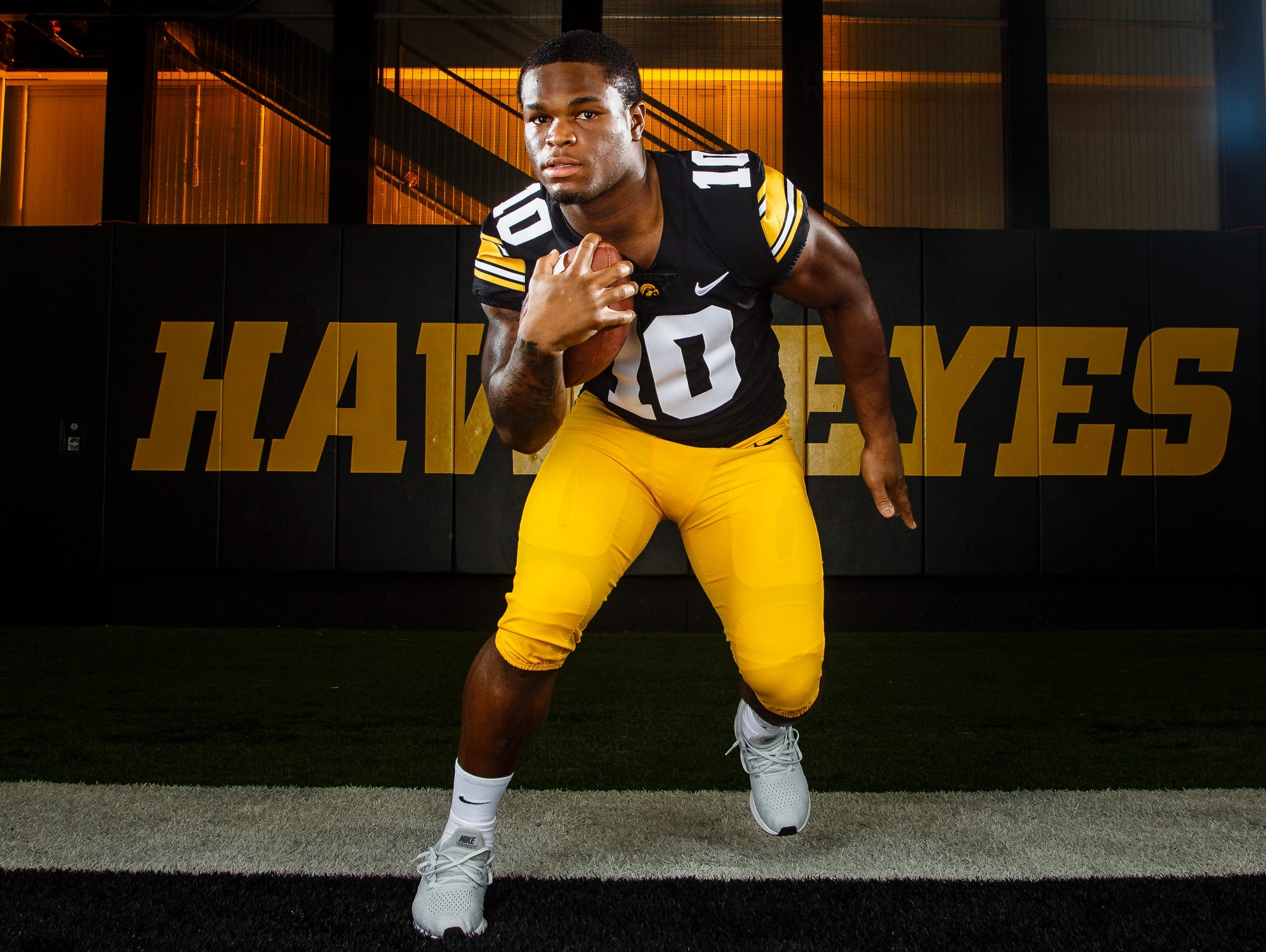 Iowa's Mekhi Sargent poses for a photo during the Iowa Football media day on Friday, Aug. 10, 2018 in Iowa City.