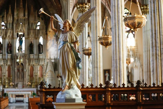 Inside Sweetest Heart of Mary Catholic Church in August 2017 in Detroit.
