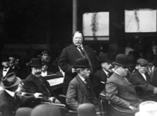 President William Howard Taft in Trenton, New Jersey, during his 1912 campaign.