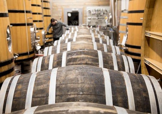 Barrels at Crooked Stave Artisan Beer Project in Denver