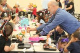 Superintendent Dr. Greg Adkins gets a reminder of why he does what he does when he visits schools on their first day.