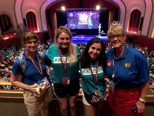 From left to right, Best Buddies program manager Katie Vazquez; FGCU chapter vice president Savannah Louderback; FGCU chapter president Jenna Maringione; and Best Buddies area director Melanie Musick
