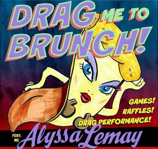 Drag Me To Brunch happens one Sunday a month, and Nice Guys only announces the event on the day it's happening.