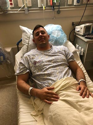 Saxton Shearer, who graduated MSU Northern in Havre, was inspired to register as a bone marrow donor by the health challenges of young Finnley Grace Foster, has been treated for a severe combined immune deficiency.