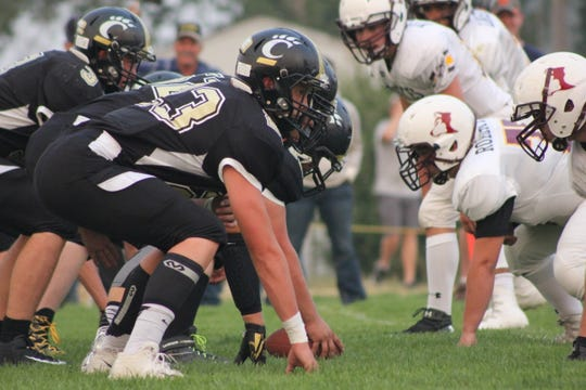 The Cascade Badgers (dark uniforms) compete in Northern C.